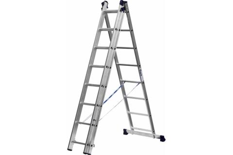 products/Лестница СИБИН универсальная, трехсекционная со стабилизатором, 8 ступеней 38833-08