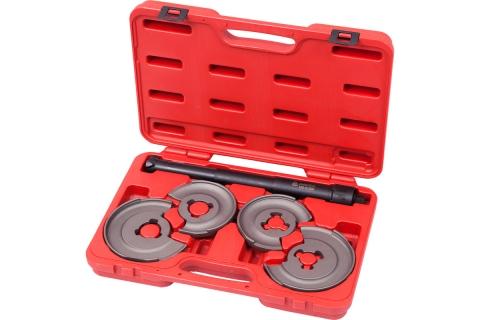 products/Стяжка амортизаторных пружин, центральная, кованая, дисковые держатели, кейс, 5 предметов МАСТАК 100-01005C