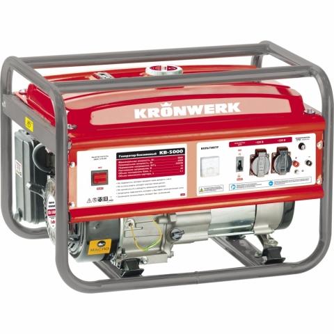 products/Генератор бензиновый Kronwerk KB 5000 5,0 кВт, 220В/50Гц, 25 л, ручной старт (арт. 94693)