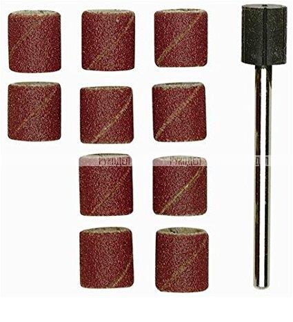 Шлифовальные цилиндры с дискодержателем (10шт., зерн.К 120, диам. 14 мм)