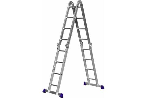 products/СИБИН ЛТ-44 лестница-трансформер, 4x4 ступени, алюминиевая 38852