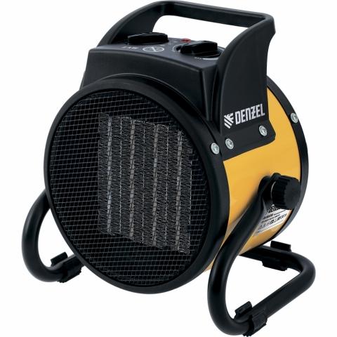products/Тепловентилятор, керамический нагреватель DENZEL DHC 2-100; 220В; 0,025/1/2 кВт (арт. 96429)