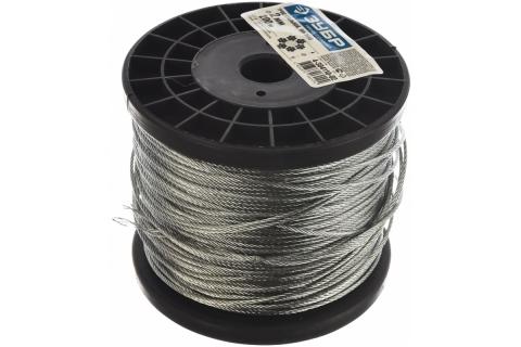 products/Трос стальной, оцинкованный, DIN 3055, d=2 мм, L=200 м, ЗУБР Профессионал 4-304110-02
