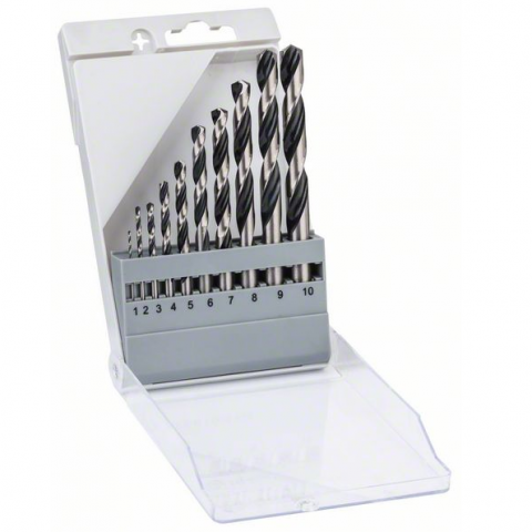 products/Набор спиральных сверл Bosch HSS PointTeQ 1-10 мм (арт. 2608577348)