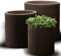 "products/Комплект кашпо ""S+M+L CYLINDER PLANTERS"" Keter  (арт. 17197934)"