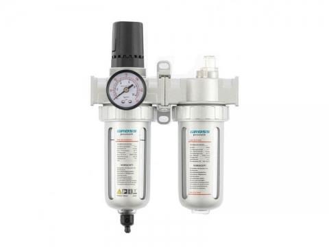 """products/Блок подготовки воздуха регулятор-фильтр-лубрикатор GROSS G804 1/2"""" (арт. 57451)"""