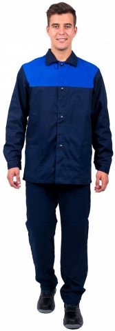 products/Костюм Труженик (тк.Смесовая,210) брюки, т.синий/васильковый