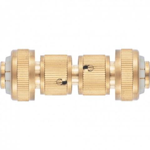 products/Набор для соединения шлангов 3/4, переходник, 2 соединителя, аквастоп, латунный Palisad, 66211