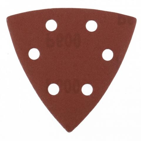 """products/Треугольник абразивный на ворсовой подложке под """"липучку"""", перфорированный, P 600, 93 мм, 5 шт Matrix, 73869"""