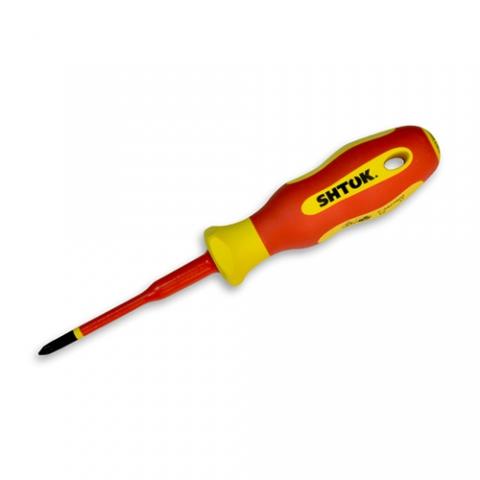 products/ Отвертка диэлектрическая Ph1х80 мм, SHTOK 09318