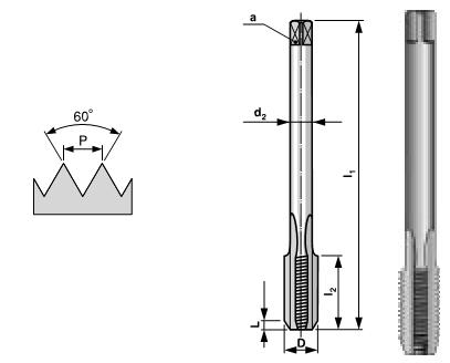 products/Метчик, машинный HSSE M 12 шаг 1.75 мм Bucovice Tools 194120
