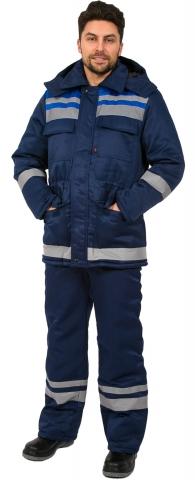 products/Костюм зимний Горизонт-Люкс (тк.Смесовая,210) брюки, т.синий/васильковый