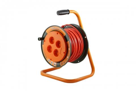 products/Удлинитель силовой на катушке GLANZEN 4 гнезда ПВС 2х0,75 арт. ЕВ-30-002