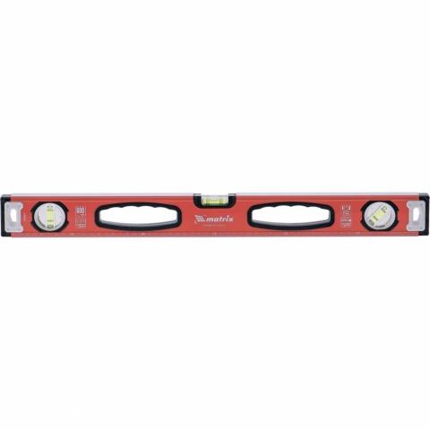 products/Уровень алюминиевый, фрезерованный, 3 глазка, рукоятки, 1000 мм MATRIX