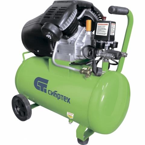products/Компрессор воздушный СибрТех КК-2200/50, 2,2 кВт, 350 л/мин, 50 л, прямой привод, масляный (арт. 58040)