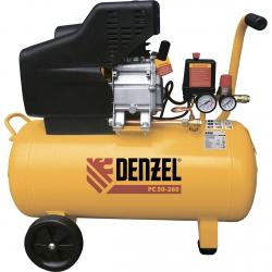 products/Компрессор воздушный Denzel NEW PC 1/50-260, 1,8 кВт, 260 л/мин, 50 л, 10 бар, прямой привод, масляный (арт. 58073)