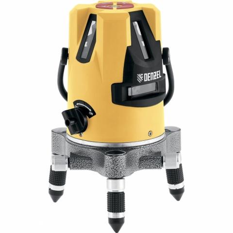 """products/Лазерный уровень LX3, 10м, 0,3мм/1м, 635 нм, 4 вертикальных 1 горизонтальная плоскость, резьба 5/8"""" DENZEL 35070"""