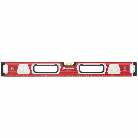 products/Уровень алюминиевый, магнит, фрезерованный, 3 глазка (1 зеркал.), 2 компонентные рукоятки, 800 мм MATRIX