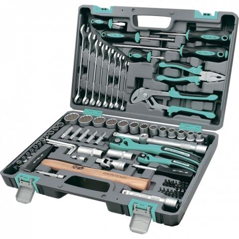 products/Набор инструментов, 1/2, 1/4, CrV, пластиковый кейс, 76 предметов, двенадцатигранные головки Stels (14116)