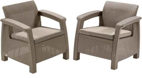 """products/Кресло """"Corfu duo set"""" Allibert  (арт. 17197993) 2 кресла в комплекте"""