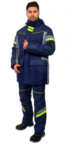 products/Куртка зимняя PROFLINE SPECIALIST (тк.Таслан), серый/т.синий