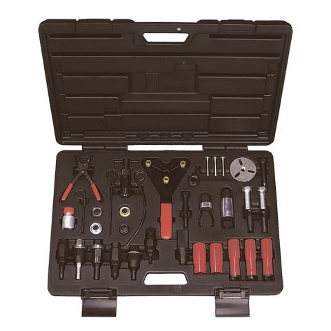 products/105-30037C, МАСТАК Набор для обслуживания компрессора кондиционера, кейс, 37 предметов