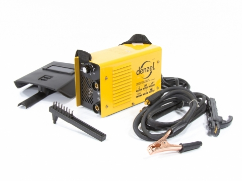 products/Инверторный аппарат дуговой сварки Denzel MMA-200 Compact, 200 А, ПВР 60%, диам. эл. 1,6-5 мм (арт. 94336)