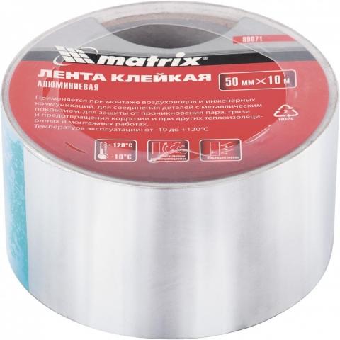 products/Лента клейкая алюминиевая, 50 мм х 10 м Matrix, 89071