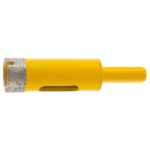 products/Сверло алмазное по керамограниту, 18 мм, мокрая резка, трехгранный хвостовик Denzel, 72678