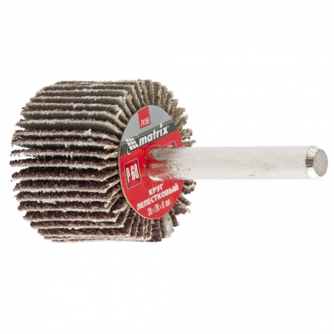 products/Круг лепестковый для дрели, 30 х 20 х 6 мм, P 60// Matrix, 74159