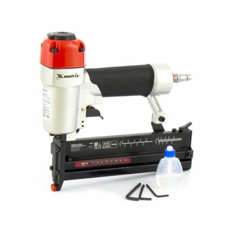 products/Нейлер-степлер MATRIX пневм 2 в 1, гвозди 18GA длина 10-50, скобы 18GA 13-40 (арт. 57426)
