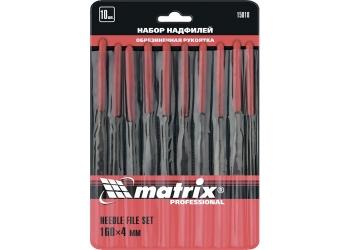 products/Набор надфилей, 160 х 4мм, 10 шт., обрезиненные рукоятки MATRIX