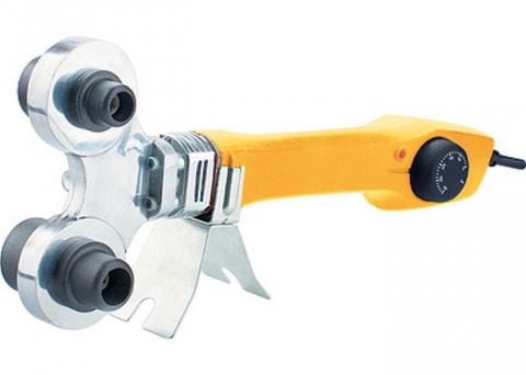 products/Аппарат для сварки пластиковых труб DENZEL DWP-750, 750 Вт, 260-300 град, комплект насадок, 20-40 мм (арт. 94203)