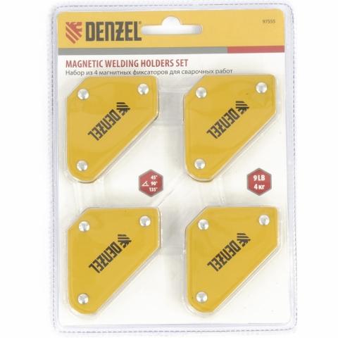 products/Набор из 4 магнитных фиксаторов для сварочных работ// Denzel