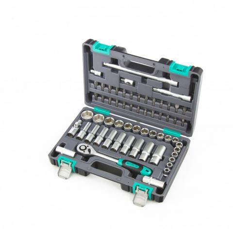 products/Набор инструментов, 1/2, CrV, пластиковый кейс, 60 предметов Stels (14103)