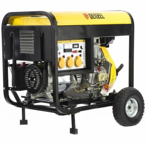 products/Генератор дизельный DD6300Е, 5,0 кВт, 220В/50Гц, 15 л, электростартер// DENZEL