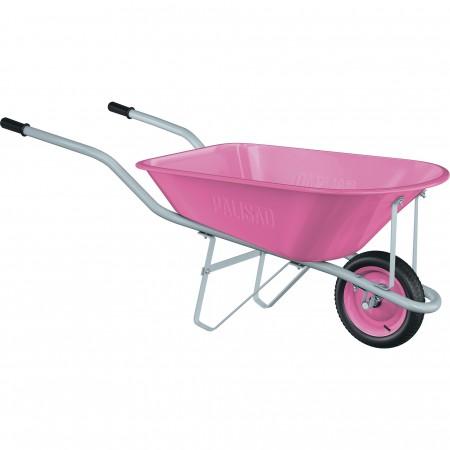 products/Тачка садовая Pink Line, одноколесная, объем 78 л. PALISAD