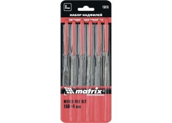 products/Набор надфилей, 160 х 4мм, 6 шт., обрезиненные рукоятки MATRIX