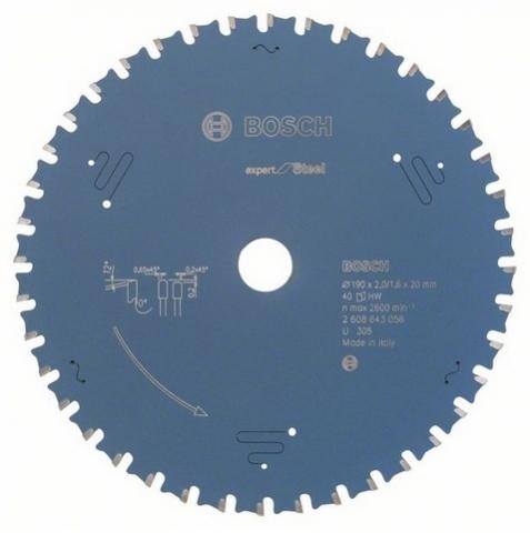products/Пильный диск по металлу (190x20 мм; 40 зубьев) Bosch 2608643056