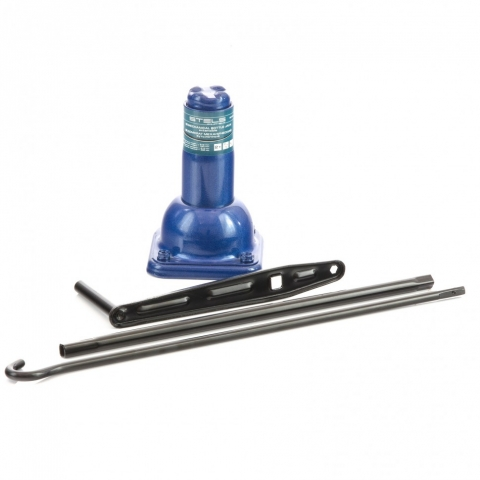 products/Домкрат механический бутылочный, 2 т, h подъема 210–390 мм, 2 части (домкрат, ручка) Stels (50103)