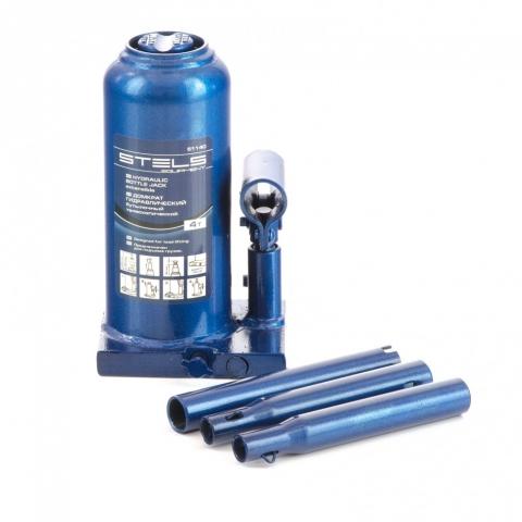 products/Домкрат гидравлический бутылочный телескопический, 4 т, h подъема 190-480 мм Stels (51140)