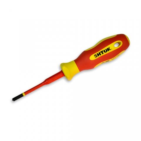 products/Отвертка диэлектрическая, комбинированное жало Ph1/Sl4.5x80 мм, SHTOK 09322
