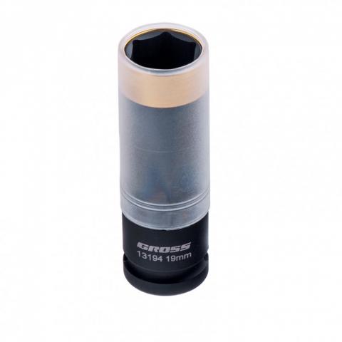 products/Головка ударная шестигранная для колесных дисков, 19 мм, 1/2, CrMo Gross, 13194