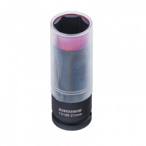 products/Головка ударная шестигранная для колесных дисков, 21 мм, 1/2, CrMo Gross, 13195