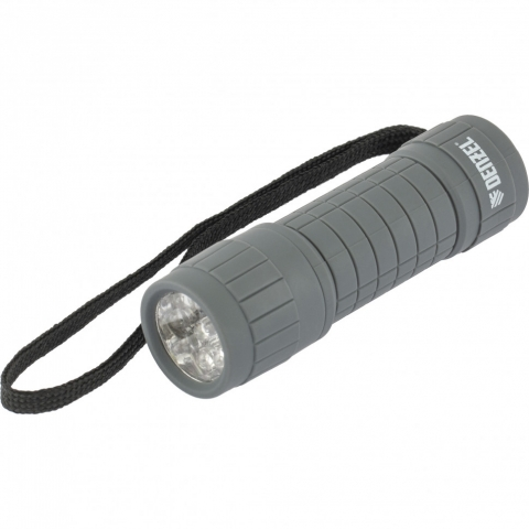 products/Фонарь светодиодный, серый корпус с мягким покрытием, 9 Led, 3хААА Denzel, 92612
