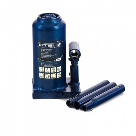 products/Домкрат гидравлический бутылочный телескопический, 6 т, h подъема 190-480 мм Stels (51141)
