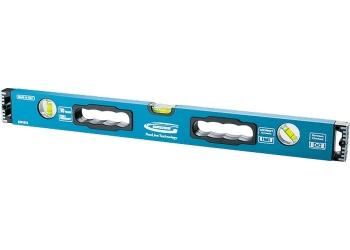 products/Уровень алюминиевый, 1800 мм, усиленный с ударопрочными заглушками, рукоятки, 3 глазка GROSS 34338