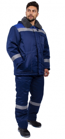 products/Костюм зимний Легион-Ультра СОП (тк.Смесовая,210) брюки, т.синий/васильковый