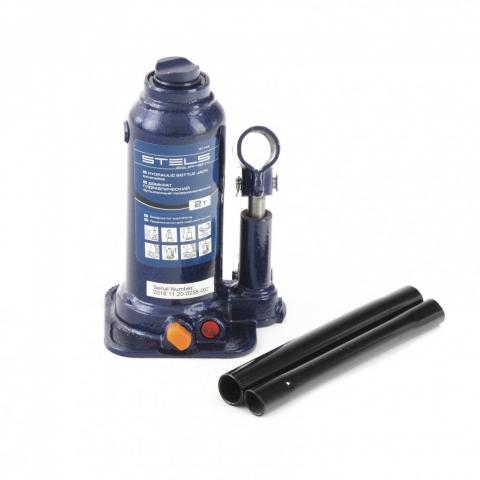 products/Домкрат гидравлический бутылочный телескопический, 2 т, подъем 170-380 мм Stels (51144)