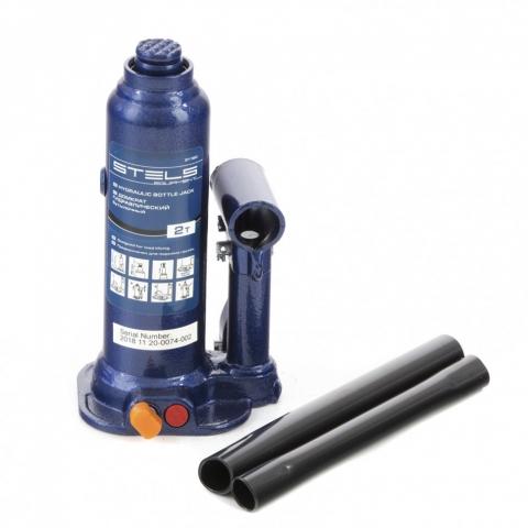 products/Домкрат гидравлический бутылочный, 2 т, h подъема 178-338 мм Stels (51160)